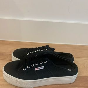 superga open back platform sneaker